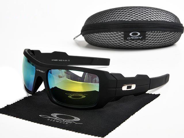 aa5fd549cfd discount Oakley Oil Rig Sunglasses matte black frames yellow-blue Iridium  sale online