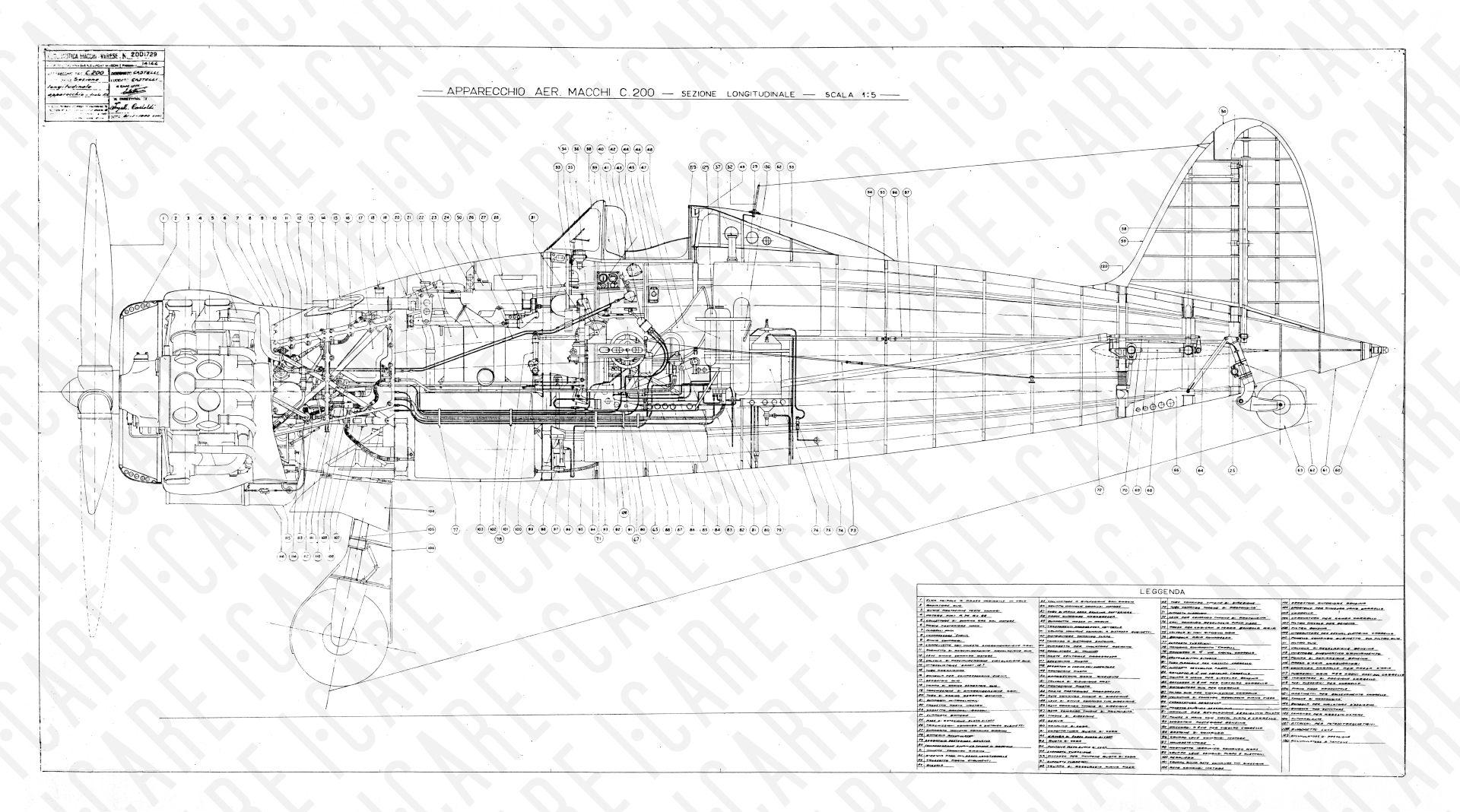Aeroplano SIAI Marchetti SM92Cod SM9270x50 CUTAWAY