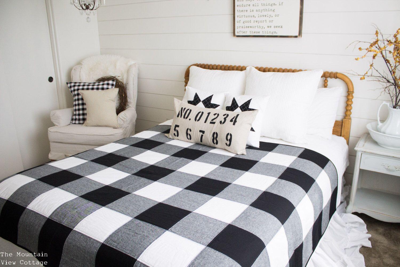 Custom Farmhouse-Black and White- Buffalo Check Quilt/Throw ...