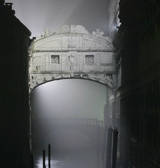 One of the most romantic places to kiss in the world:  The Bridge of Sighs, Venice.