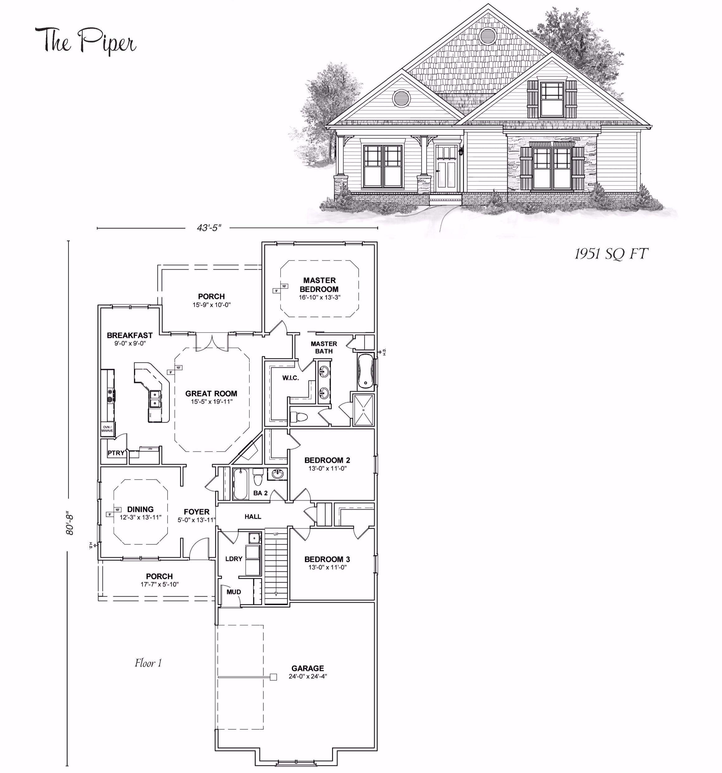 The Piper Stoneridge Homes Huntsville Al Custom Home Builders And Madison County Alabama