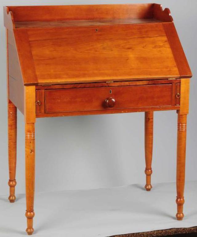Slant-Front Desk - - Photo Courtesy of Morphy Auctions - What Qualifies As Slant-Front Desk? Front Desk, Desks And Living