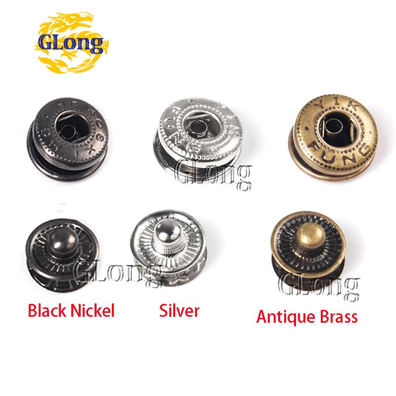 50set/Pack Metal Press Studs Sewing Button Snap Fasteners Sewing Leather Craft Clothes Bags #GZ153