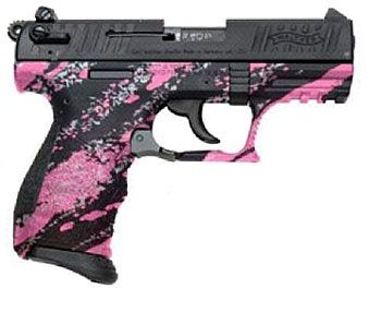 pink 380 pistol  Not usually a fan of girly colored guns but this