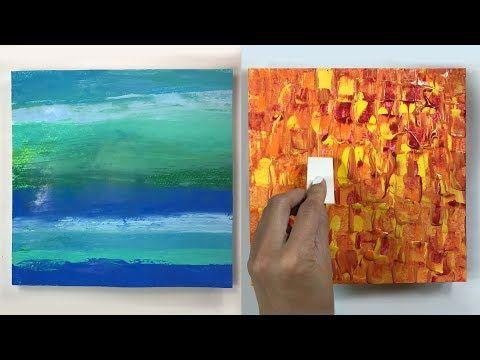 Demonstration De Peinture Abstraite 13 Elisabeth Toile