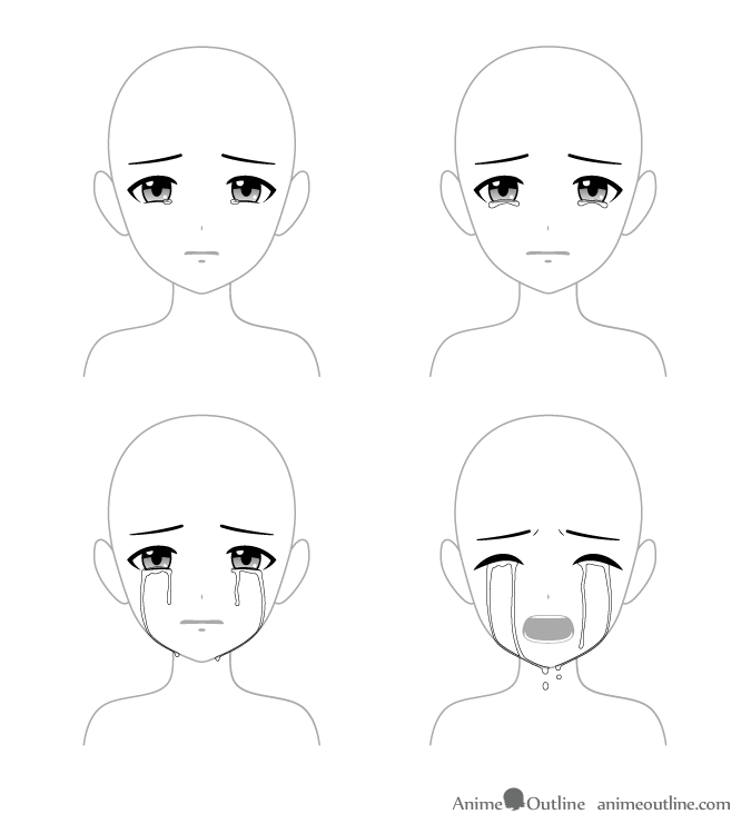 4 Ways To Draw Crying Anime Eyes Tears Animeoutline In 2020 Anime Crying Eye Drawing Anime Eyes