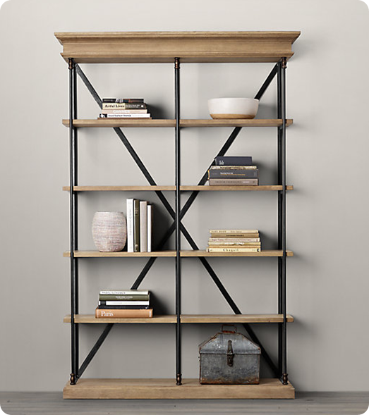 furniture frame room shelf book bookcase metal wood style detail product industrial living