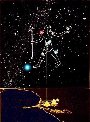 as above so below - orion's belt, giza, pyramids ...
