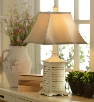Whitewashed Shutter Table Lamp | Kirkland\'s | lamps and lanterns ...