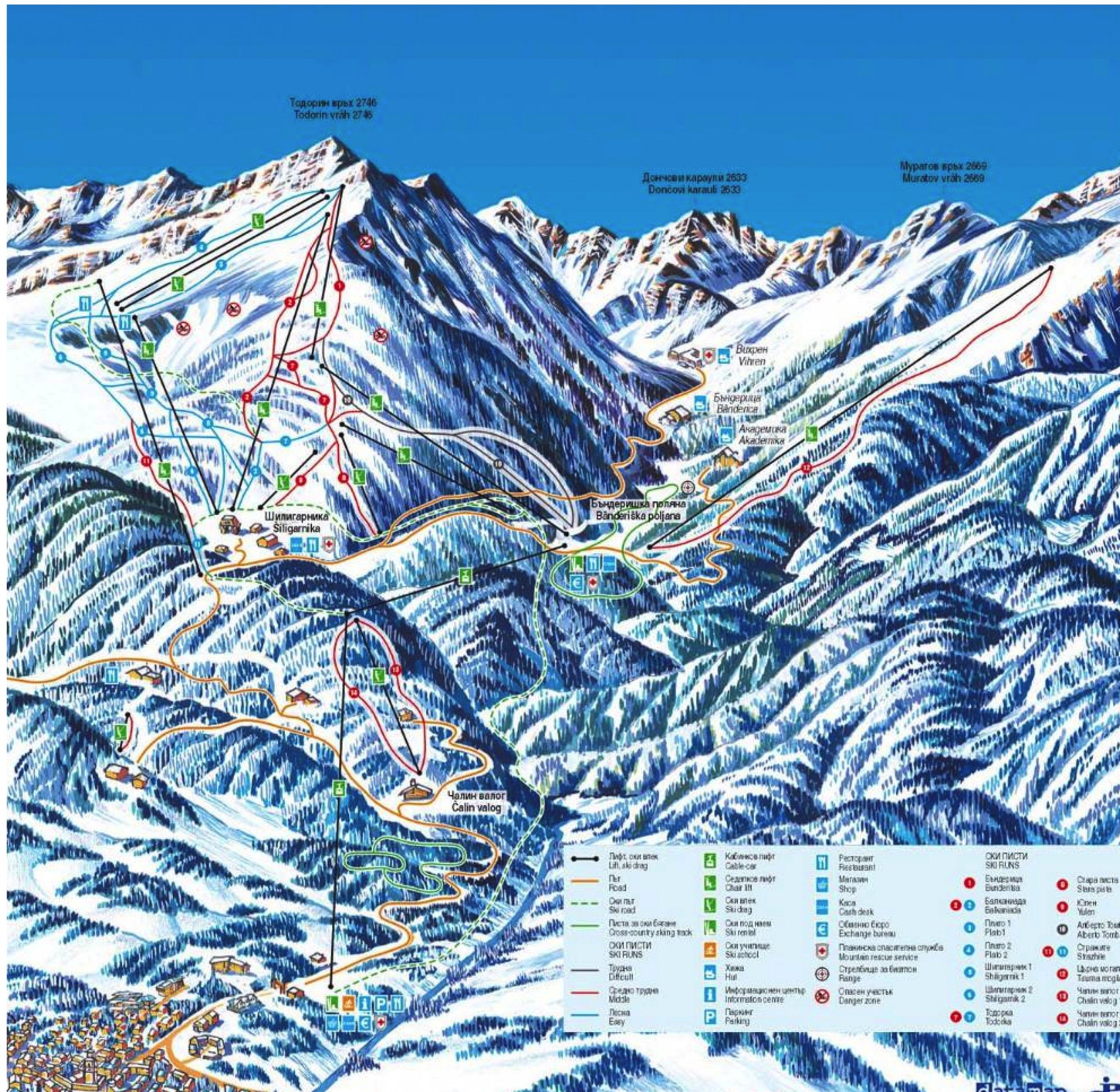 Courmayeur ski map Maps Pinterest Italy