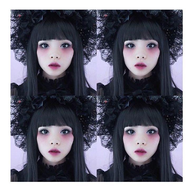 neues Halloween Make-up Tutorial – Gothic Lolita Puppe ist da !! schau es dir an…