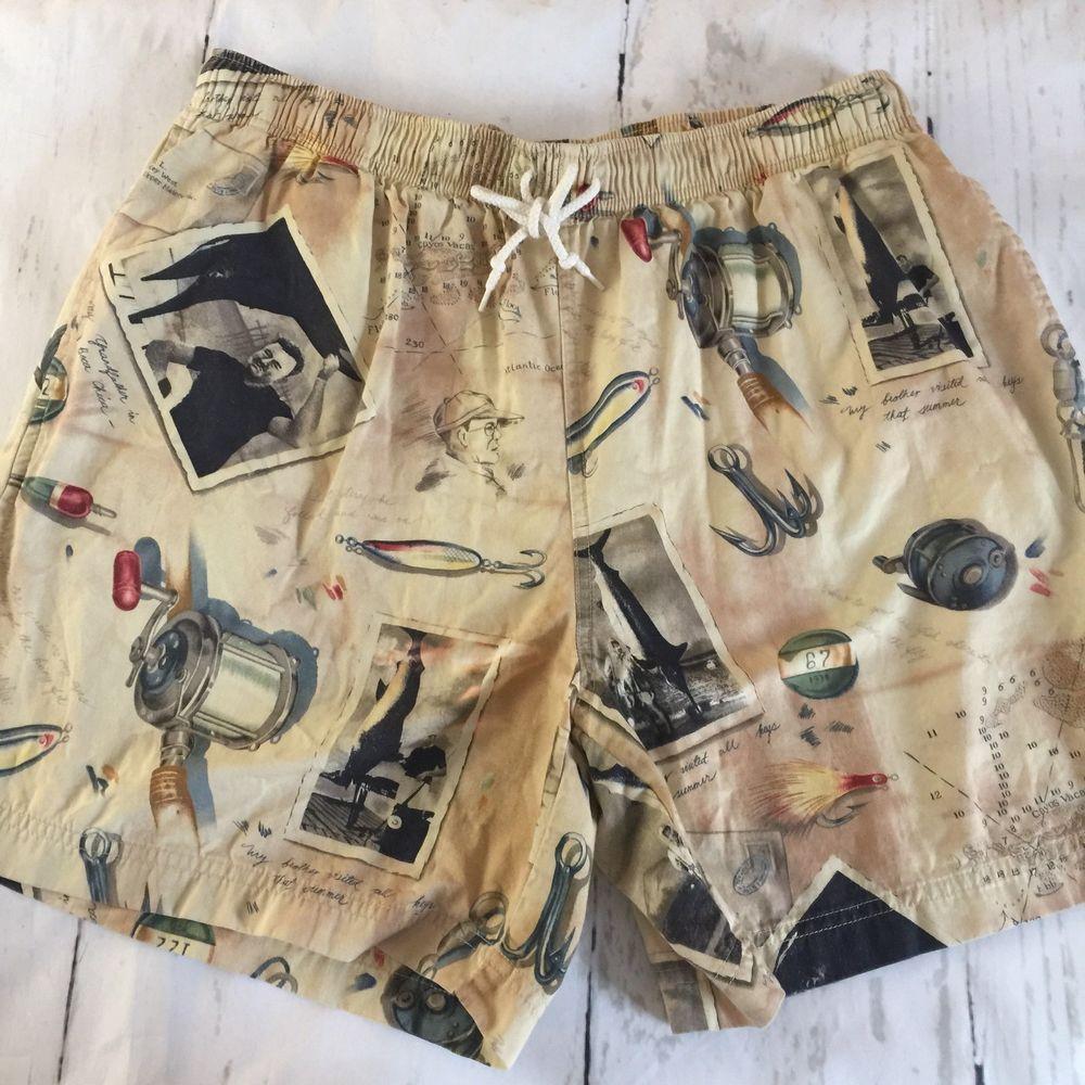 ffb281756ad VTG POLO SPORT RALPH LAUREN Hemingway Key West Fishing Swim Shorts Trunks  SZ L | eBay