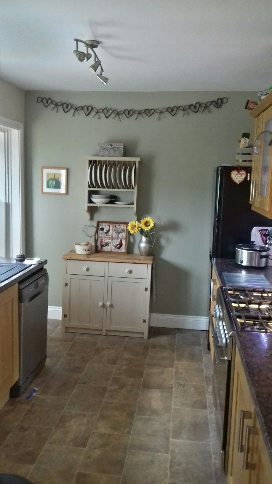 Dulux Overtly Olive Sideboard And Plate Rack Annie Sloan