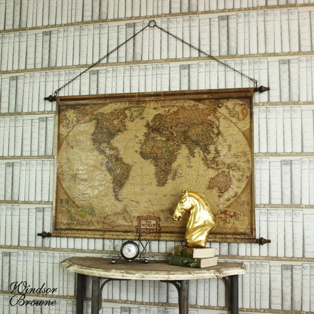 Hanging scroll world map wall mountable world map with an aged hanging scroll world map wall mountable world map with an aged effect finish complete with a gumiabroncs Image collections