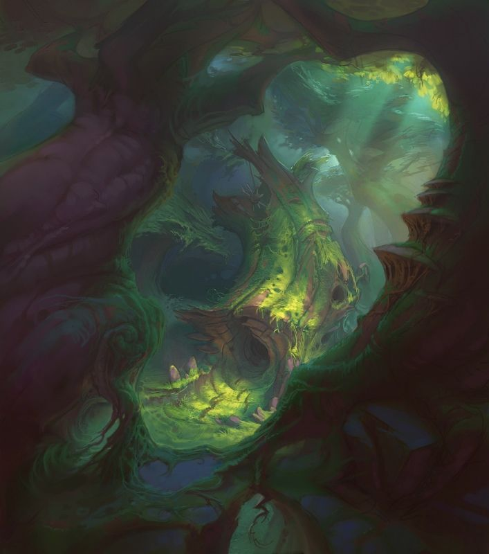 Dark Woods Fantasy Art