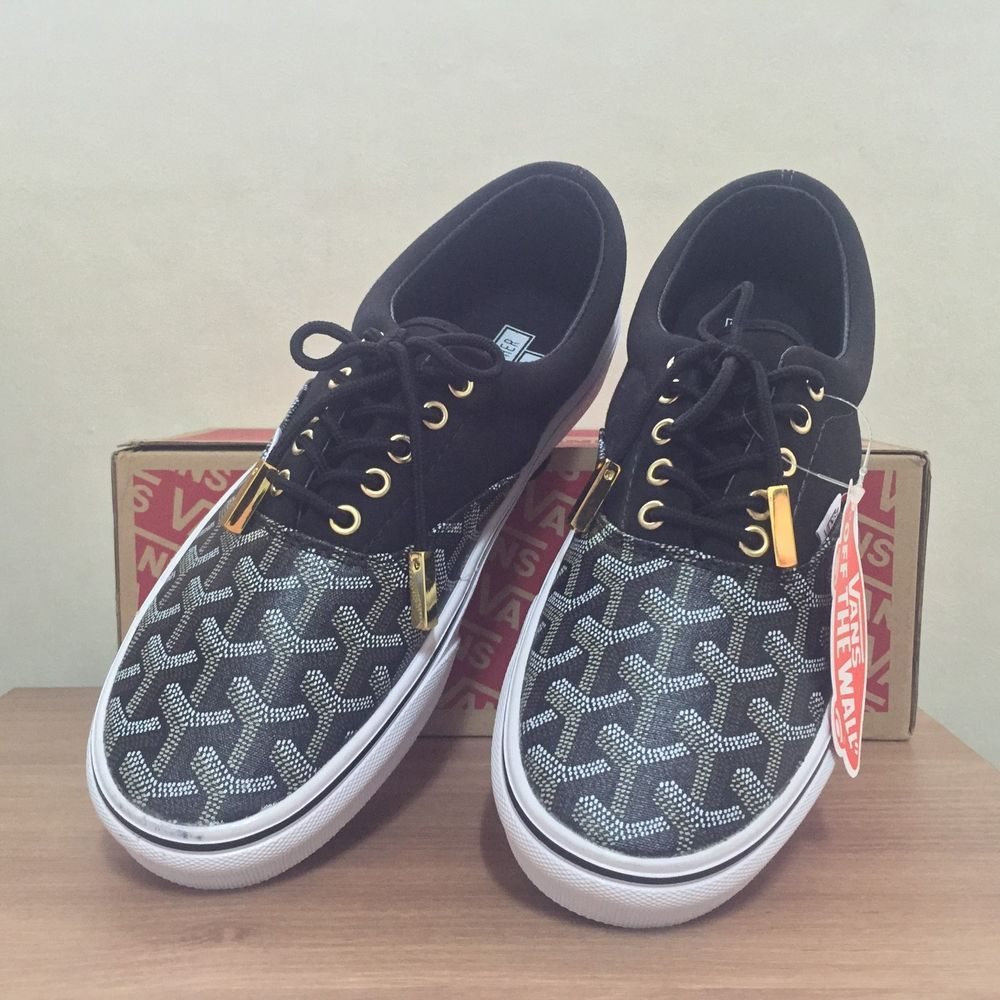 Vans X Goyard Custom Made Authentic Black Christopher Wanton Almost Sold  Out in Clothing 7e2b1df4e