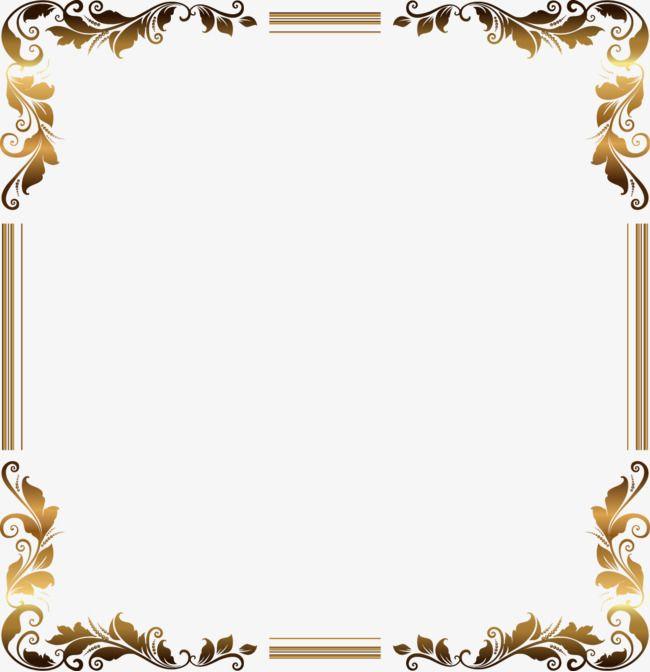 Vector Gold Frame Pattern Flower Boxes Vector Free Download Png Transparent Clipart Image And Psd File For Free Download Frame Border Design Gold Frame Frame Background