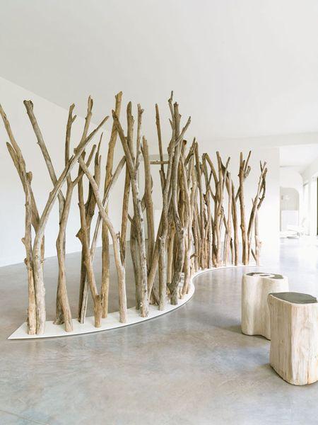Paravent Bois Flotte Tikibaq Bleu Nature Myclubdesign Diy Bois Flotte Deco Bois Flotte Deco Naturelle