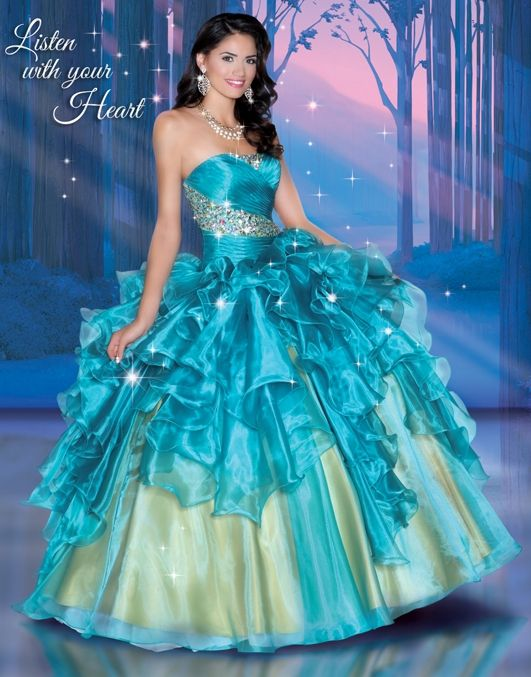 Disney Royal Ball Quinceanera Dresses Pocahontas Style 41047. What ...