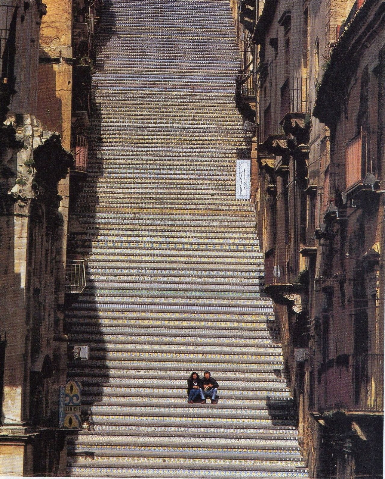 Caltagirone Scalinata Di Santa Maria Del Monte Sicilia Italia