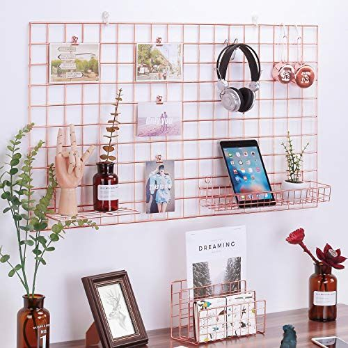 Simmer Stone Rose Gold Wall Grid Panel For Photo Hanging Https Www Amazon Com Dp B07g8jzk9x Ref Cm Sw Hanging Photos Rose Gold Wall Decor Gold Wall Decor