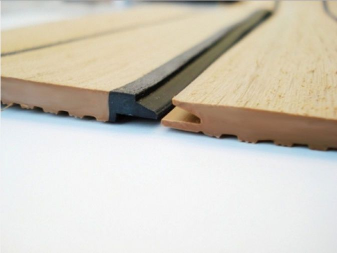 Pvc soft board tongue and groove wood durable yacht for Synthetic deck material