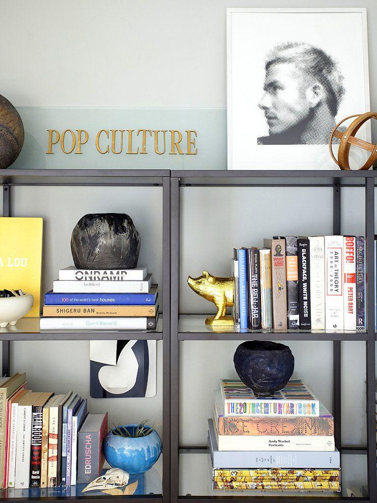 For An Organized Bookcase Like Orlando S Try Styling Books By Color How To Make Your Home Feel Light And Airy Popsugar Home Photo 9 Bookshelves Diy Bookshelves Ikea Vittsjo