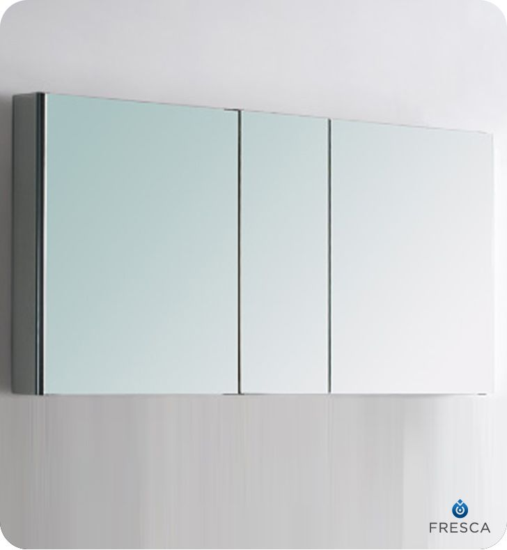 Fresca 50 Wide Bathroom Medicine Cabinet W Mirrors Fmc8013