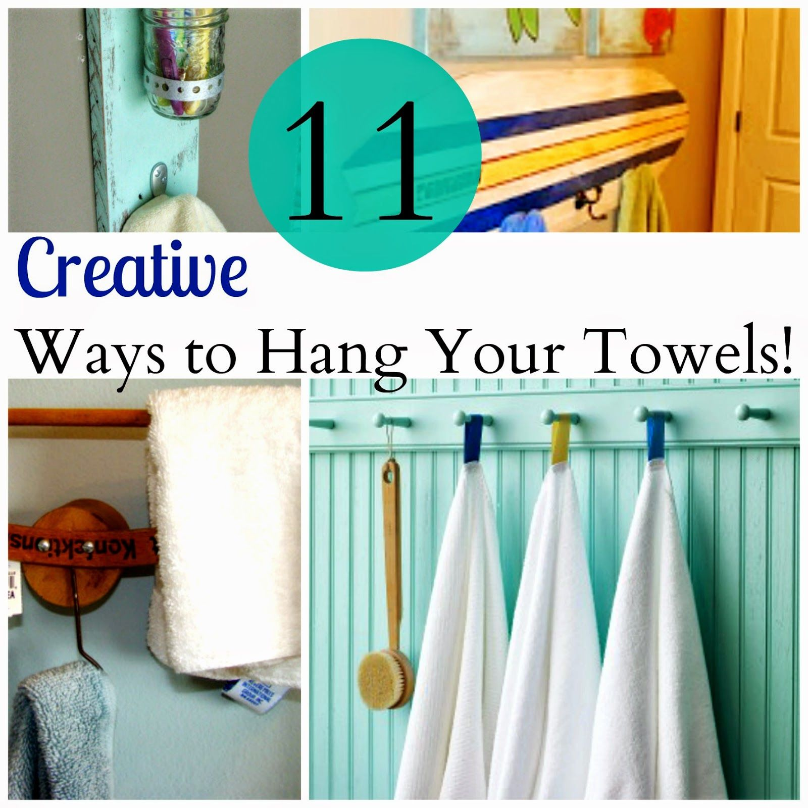 House Revivals: 11 Creative Ways to Hang Your Towels | Recycle ...