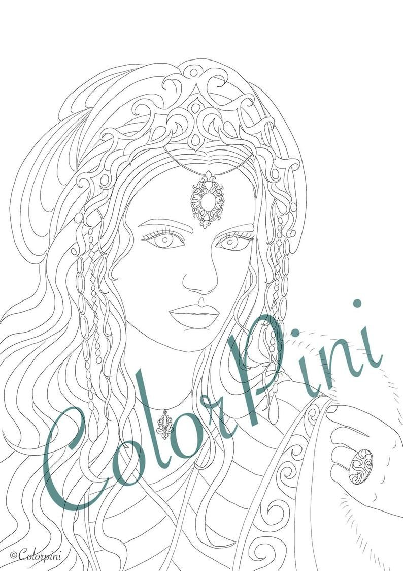 Contemplation Coloring Pages Download Printable File Pdf In 2021