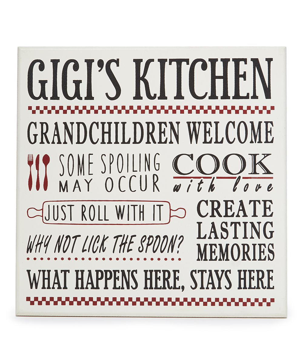 Gigi S Kitchen Wall Sign Products Wall Signs Kitchen