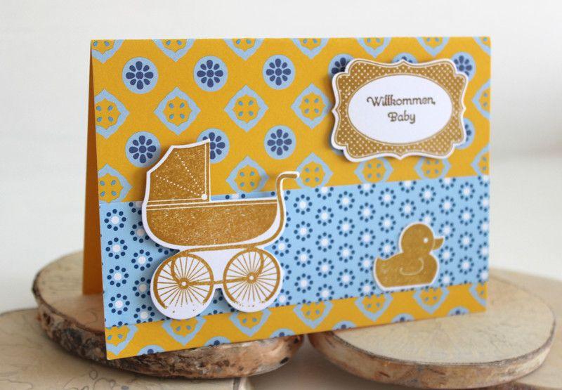 Stampin up Karte Baby/Geburt von JulaMade auf DaWanda.com