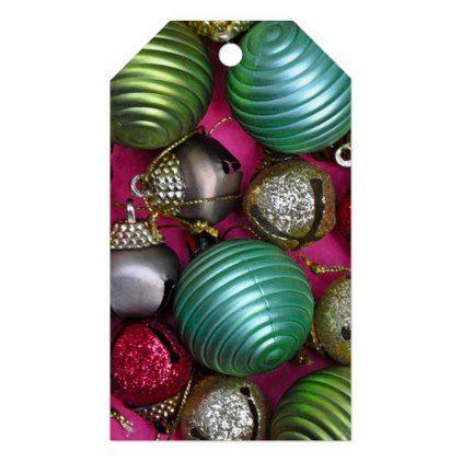 Colorful christmas ornaments gift tags - Xmas ChristmasEve Christmas Eve Christmas merry xmas family kids gifts holidays Santa
