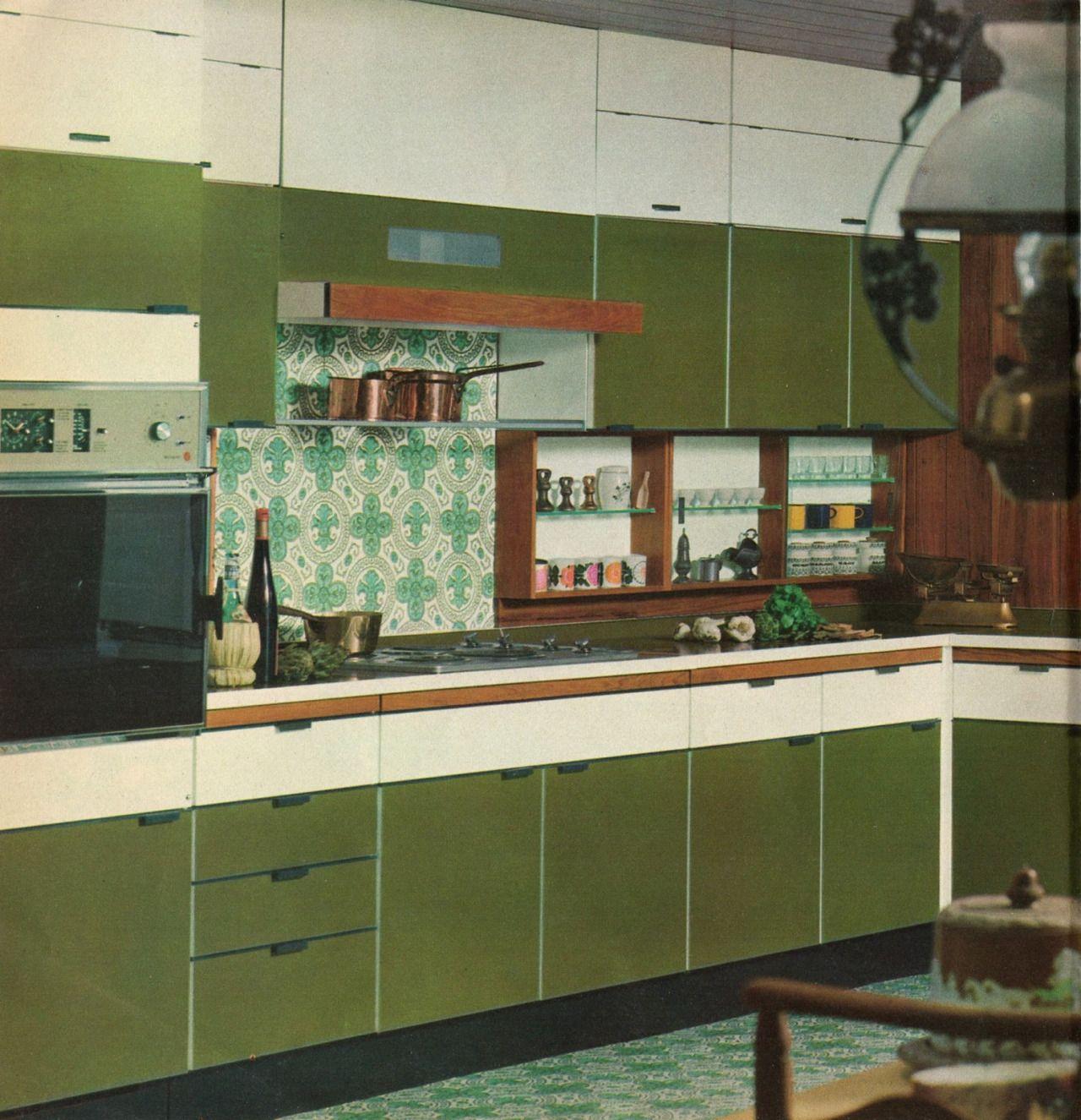 Retro Renovation Kitchen Tombolare Hygena Kitchens C 1960s Colour Pinterest Posts