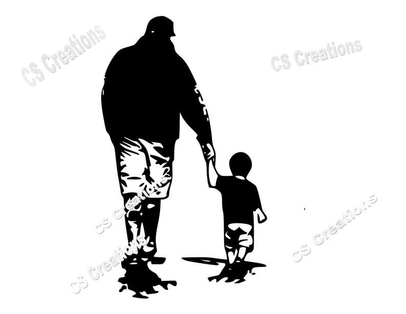 Like Father Like Son Silhouette Svg Png Pdf In 2021 Father Tattoos Kids Silhouette Father And Son