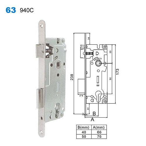 Lock Body Door Handle Lock Lock Mechanism Okna I Drzwi Metallicheskie Dveri 63 940c Mortice Lock Yale Locks Mortise Lock