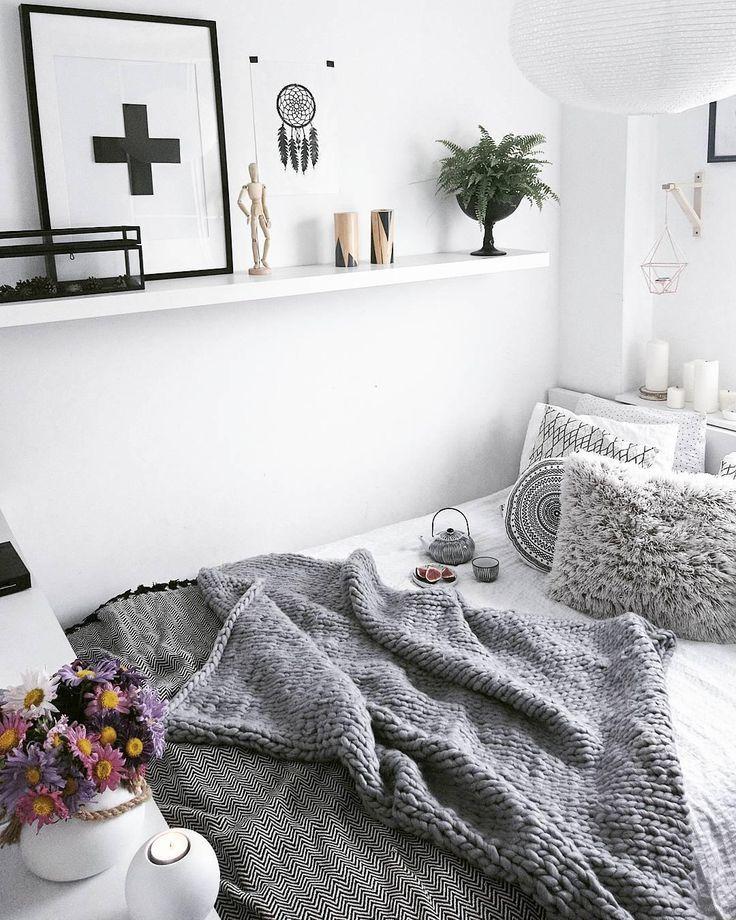 Herbstliches Schlafzimmer.