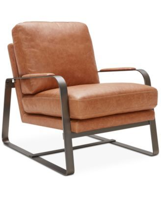 Jollene Leather Accent Chair, Only At Macyu0027s $749.00 The Sleek Lines Of  This Retro Accent Chair Recall Futuristic, Mid Century Style While Its  Sumptuous ...