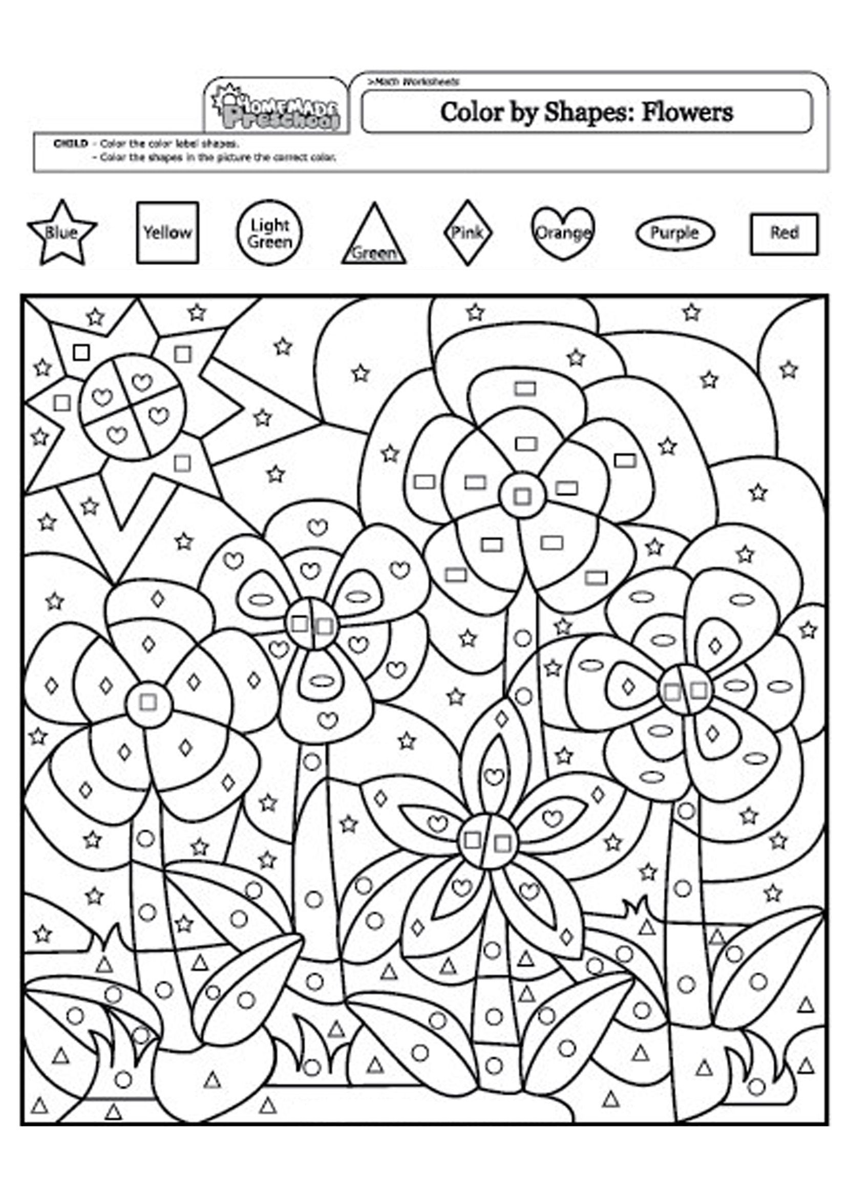 Https S3 Eu Central 1 Amazonaws Com Img Sovenok Co Uk Flowers Logic Colour Logic Colour Flower 001 Jpg Shape Coloring Pages Coloring Pages Color By Numbers