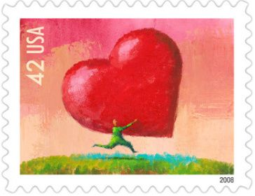 "Happy Valentine's Day from World Stamp Show-NY 2016. We ""heart"" stamp collectors!"
