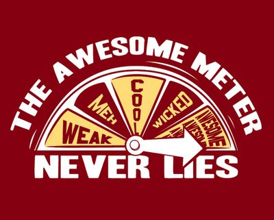 The Awesome Meter never lies!