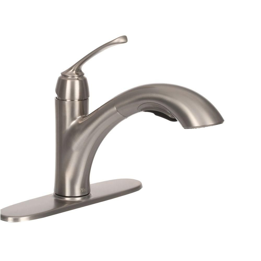 Pfister Cantara Single-Handle Pull-Out Sprayer Kitchen Faucet in ...