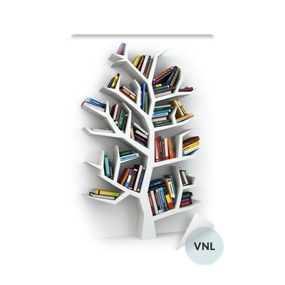 Tree Of Knowledge Bookshelf On White Background Vinyl Wall Mural Easy Installation 365 Day Money Back Guarantee Browse Other Patterns From This