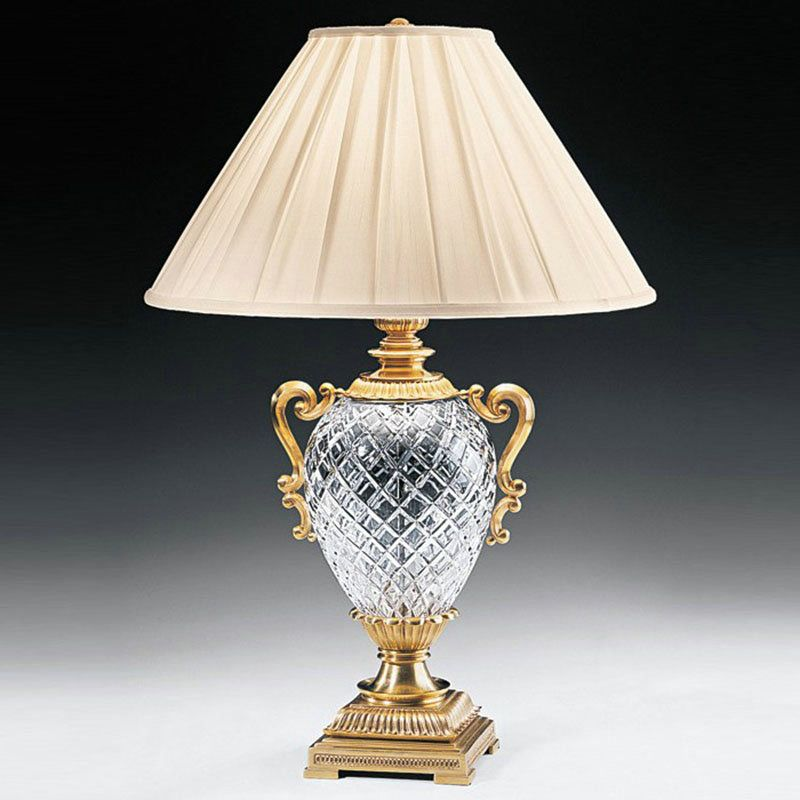 Contemporary Simple Table Lamp Trophy Shape Fixture Iron Glass Table Lamp Bedroon Living Room Desk Light Crystal Lamp Crystal Table Lamps Table Lamp