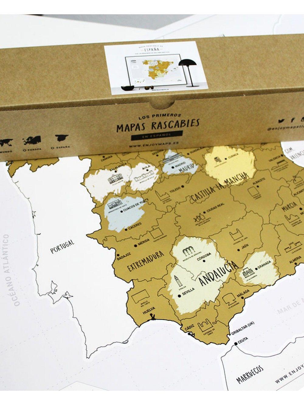 Mapa Rascable Espana Discover