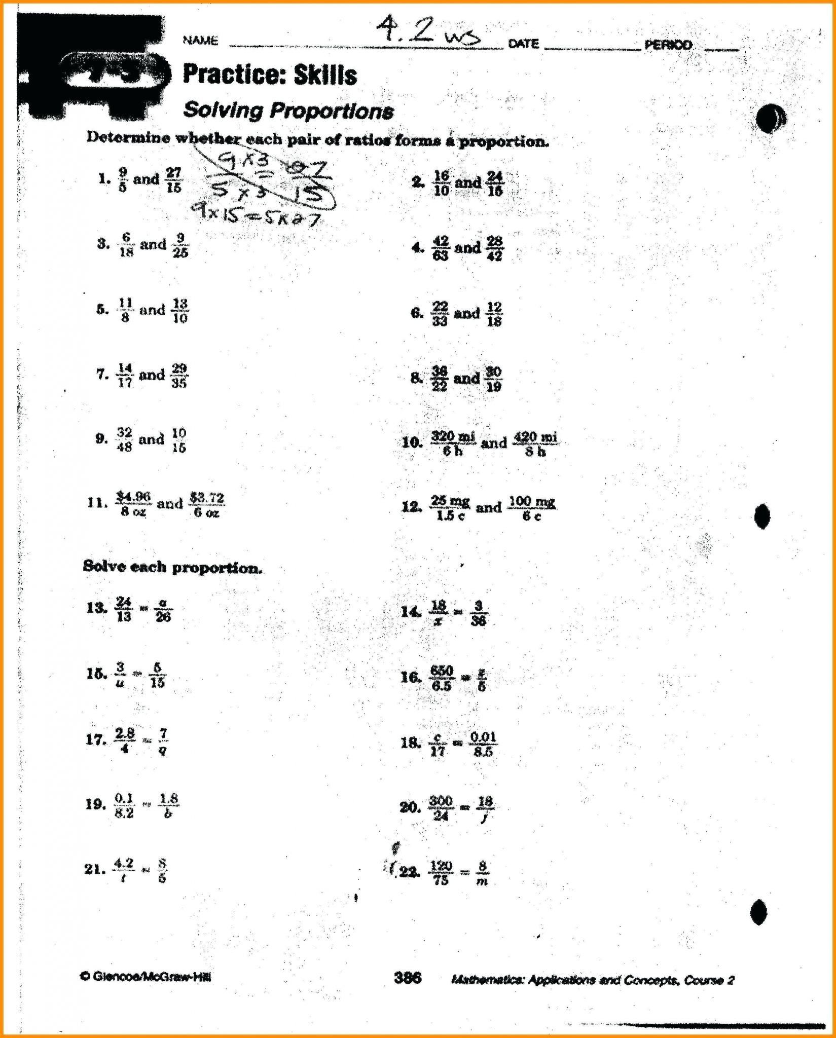 6th Grade Equivalent Ratio Worksheets   Printable Worksheets and Activities  for Teachers [ 2048 x 1649 Pixel ]