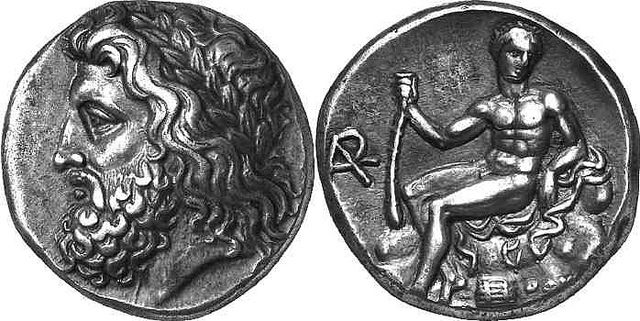 A rare masterpiece, an Arkadian League Silver Stater, from Megalopolis, Arkadia, c. Summer 363 to Spring 362 BC Found in a Peloponnese hoard, this is one of the great late Classical Greek rarities and is a real masterpiece of the die cutter's art. A very rare and extremely fine coin, one of only twelve staters of the Arkadian League known to exist outside public collections. It sold for $233,367 at auction. The stater's obverse shows the laureate head of Zeus Lykaios to the left. On t...