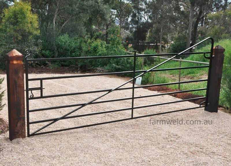 Replica Blacksmithed 19c Angle Iron Farm Gate Beaumont