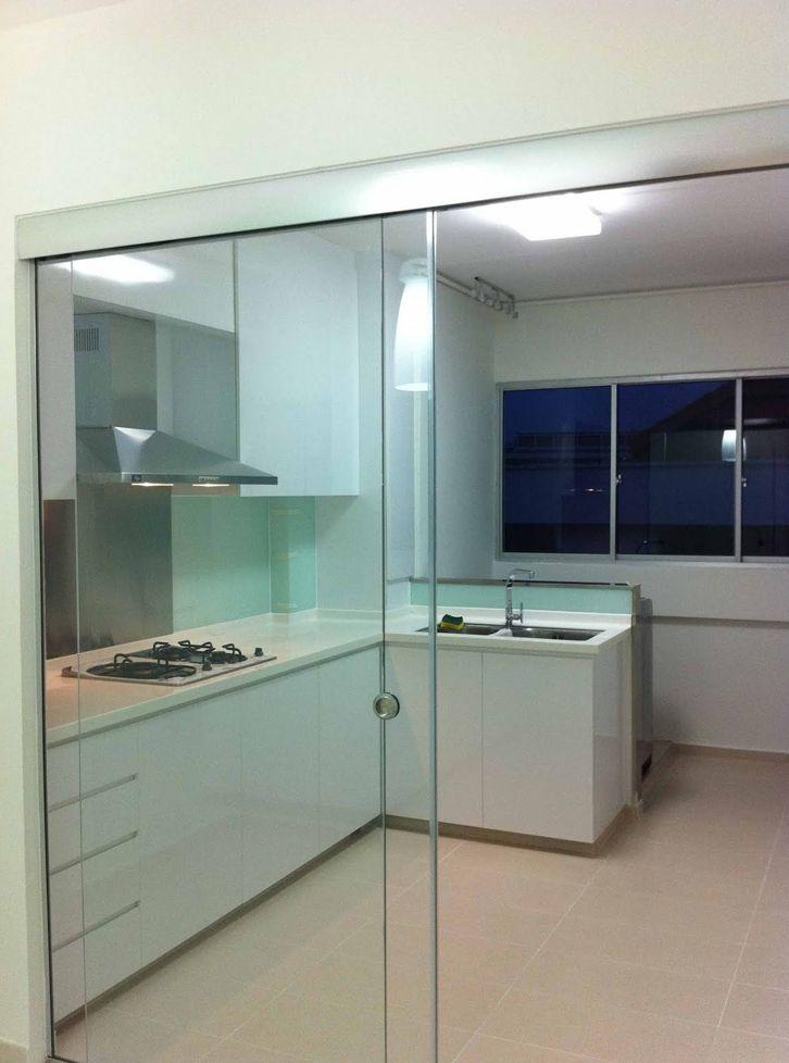 Schiebetür Glas Küche