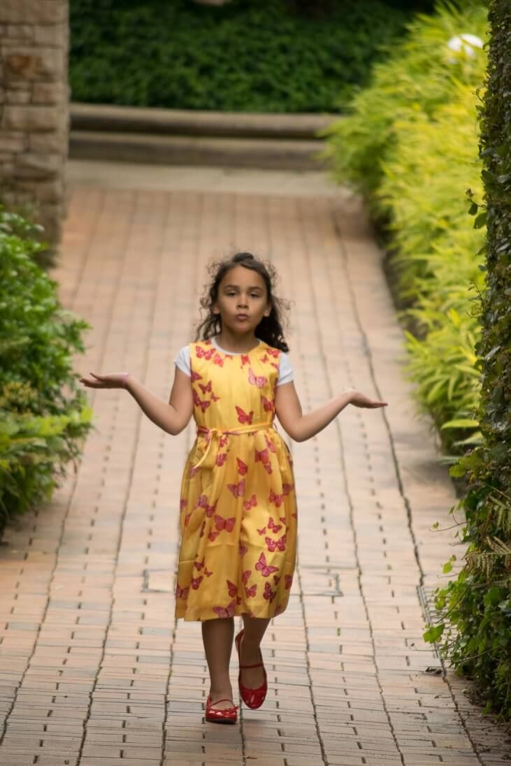 My daughterus first photo shoot a rachel riley dress rachel riley